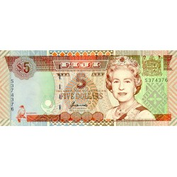 1993 - Fiji Islands P89a 1 Dollar banknote