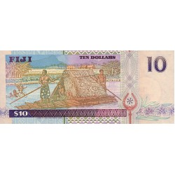 1995 - Fiji Islands P90a 2 Dollars banknote