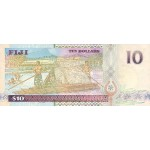 1996 - Fiji Islands P96b 10 Dollars banknote