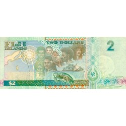 2000 - Fiji Islands P102 2 Dollars banknote