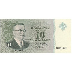 1963 - Finland Pic 100  10 Marcs banknote