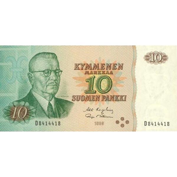 1980 - Finland Pic 111   10 Marcs banknote