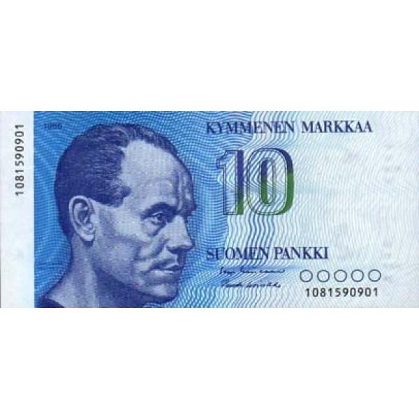 1986 - Finland Pic 113   10 Marcs banknote