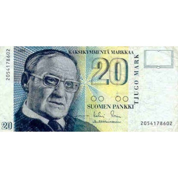 1993 - Finland Pic 122            20 Marcs banknote