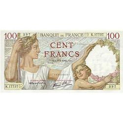 1942 - France Pic 94   100 Francs  banknote