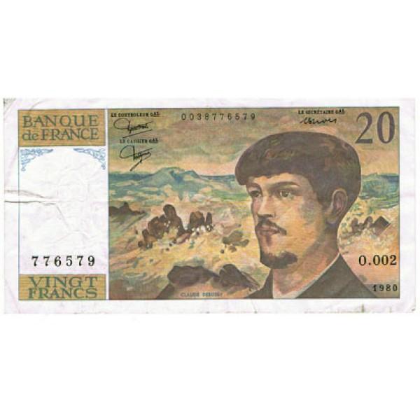 1992 - France Pic 151f   20 Francs  banknote