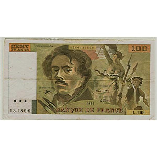 1993 - France Pic 154   VF   100 Francs  banknote