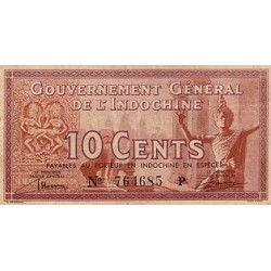 1942 - French Indochina   PIC  85 c      10 Cts Banknote