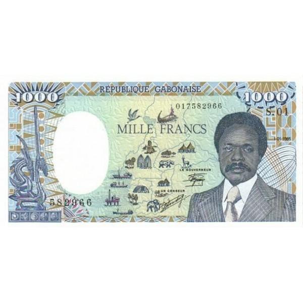 1985 -  Gabon pic9    billete de  1000 Francos