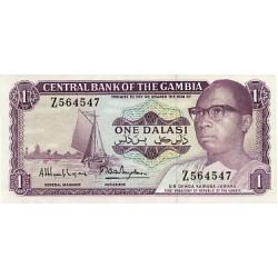 1971/87 -  Gambia PIC 4H   1 Dalasis f9  banknote