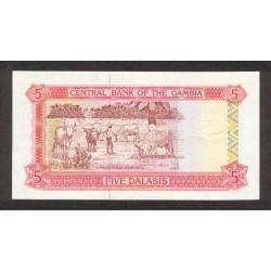 1991/95 -  Gambia PIC 12a   5 Dalasis f10  banknote