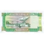 1996 -  Gambia PIC 17a  billete de   10 Dalasis  f12