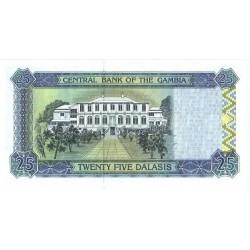 1996 -  Gambia PIC 18a   25 Dalasis f12  banknote