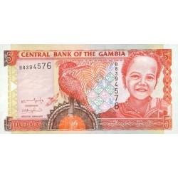 2001/05 -  Gambia PIC 20a   5 Dalasis f13  banknote