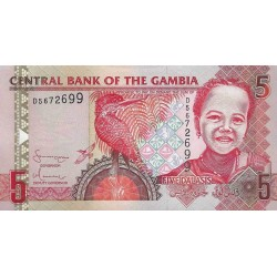 2001/05 -  Gambia PIC 20c   5 Dalasis f15  banknote