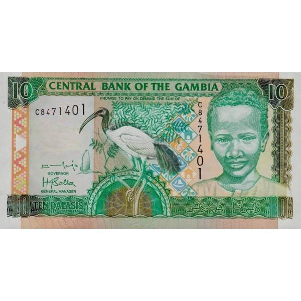 2001/05 -  Gambia PIC 21b   5 Dalasis f14  banknote