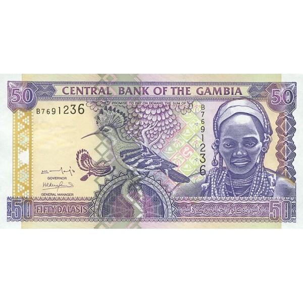 2001/05 -  Gambia PIC 23a  50 Dalasis f13  banknote
