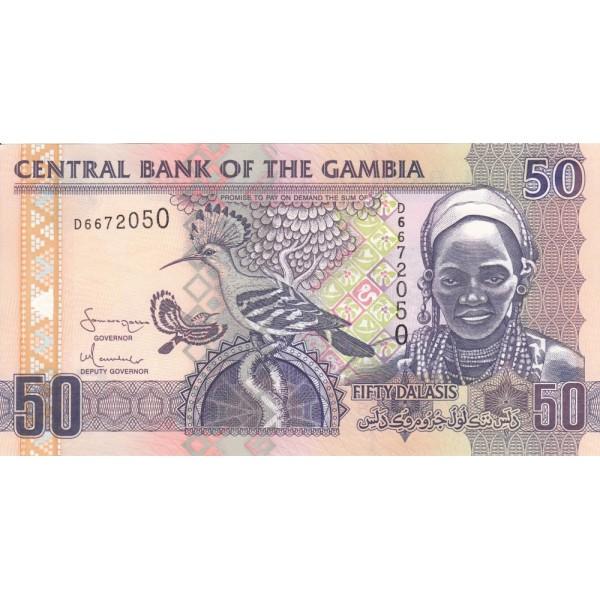 2006 -  Gambia PIC 28a  50 Dalasis f15  banknote