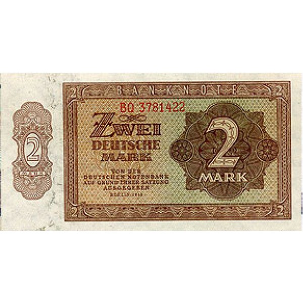 1948 - Germany D. Rep. Pic 10b    2 D. Marks  banknote