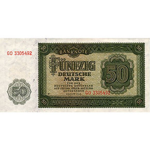 1948 - Germany D. Rep. Pic 14b    50 D. Marks  banknote