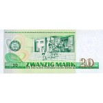 1975 - Germany D. Rep. Pic 29      20 D. Marks  banknote