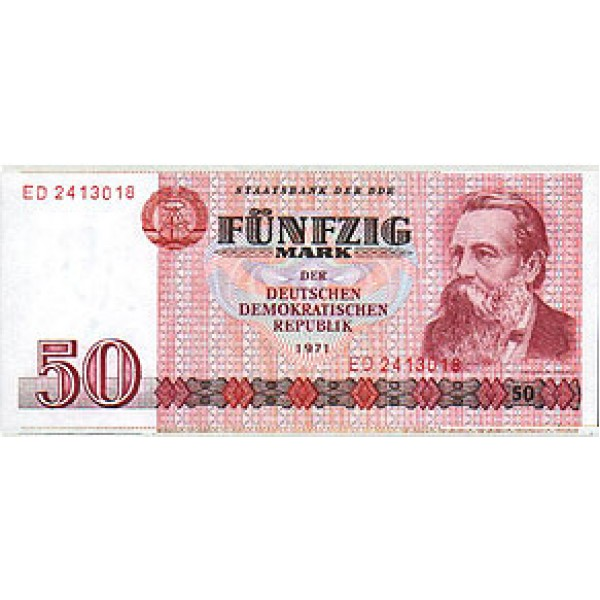 1971 - Germany D. Rep. Pic 30a   50 D. Marks  banknote