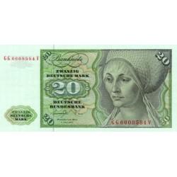 1980 - German Fed .Rep.PIC 32c      20 Marks banknote