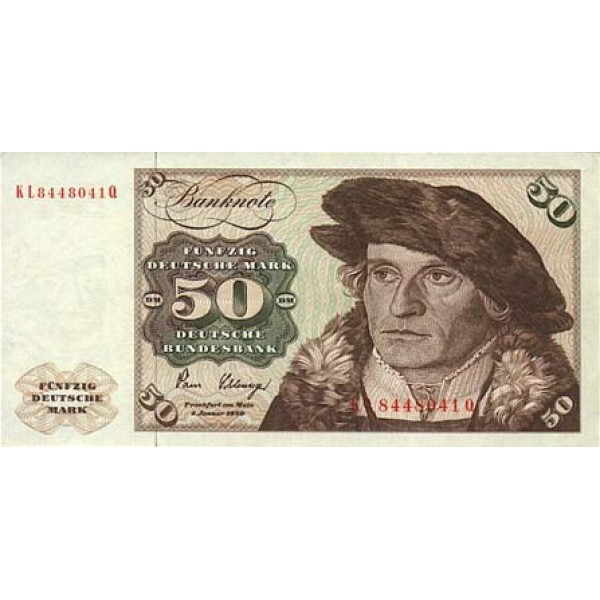 1980 - Germany_Fed_Rep PIC 33d   50 D.Marks F banknote
