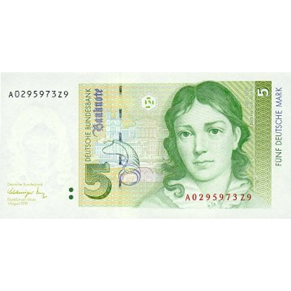 1991 - Germany_Fed_Rep PIC 37  5 D.Marks  banknote