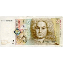 1996 - Germany_Fed_Rep PIC 45  50 D.Marks  F  banknote