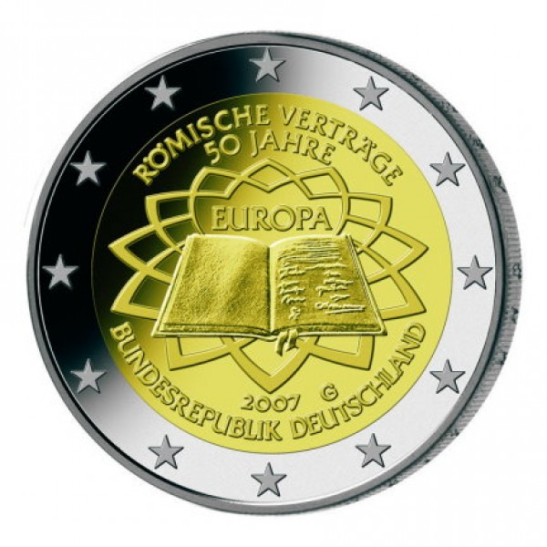 2007 - Alemania 2 Euros moneda conmemorativa 50 Anv.Tratado Roma