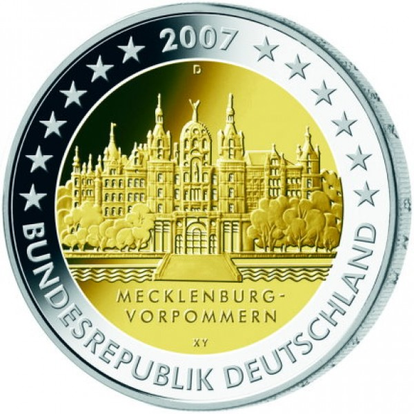 2007 - Germany 2 Euros commemorative coin Mecklenburg-Pomerania