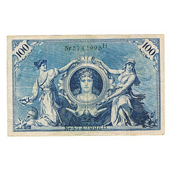 1908 - Germany   Pic 34            100 Marks  banknote