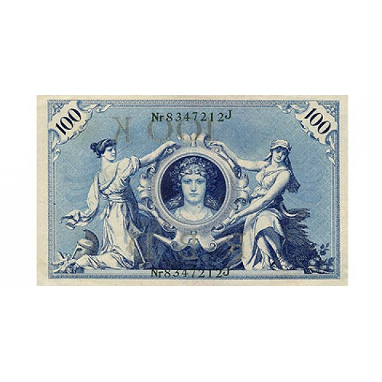 1908 - Germany   Pic 34            100 Marks VF banknote