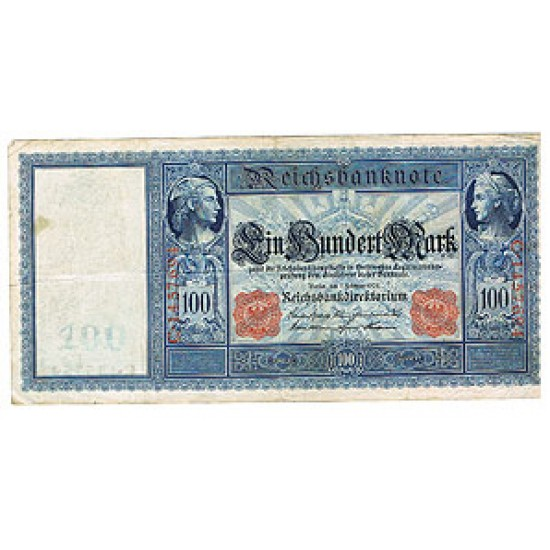 1908 - Germany Pic 35   100 Marks   VF banknote