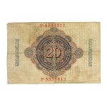 1910 - Germany   Pic 40b          20 Millons Marks G  banknote