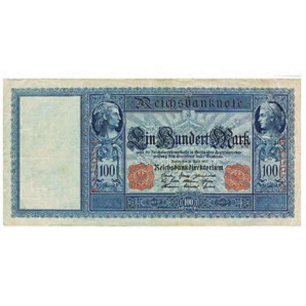 1910 - Germany   Pic 42            100 Marks  VF banknote