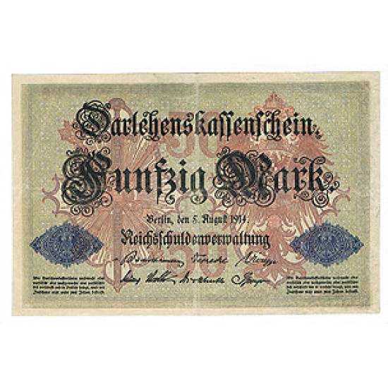 1914 - Germany Pic 49b   50 Marks VF  banknote