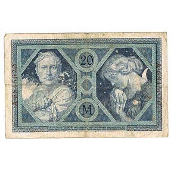 1915 -  Germany   Pic 63           20 Marks FF banknote