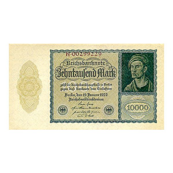 1922 - Germany Pic 72   10.000 Marks  banknote