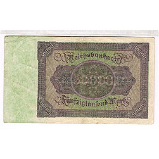 1922 - Germany PIC 79   50.000 Marks F banknote