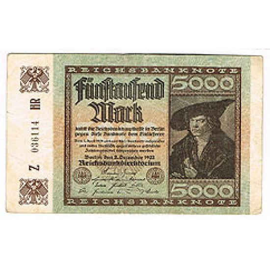 1922 - Germany Pic 81   5.000 Marks XF banknote