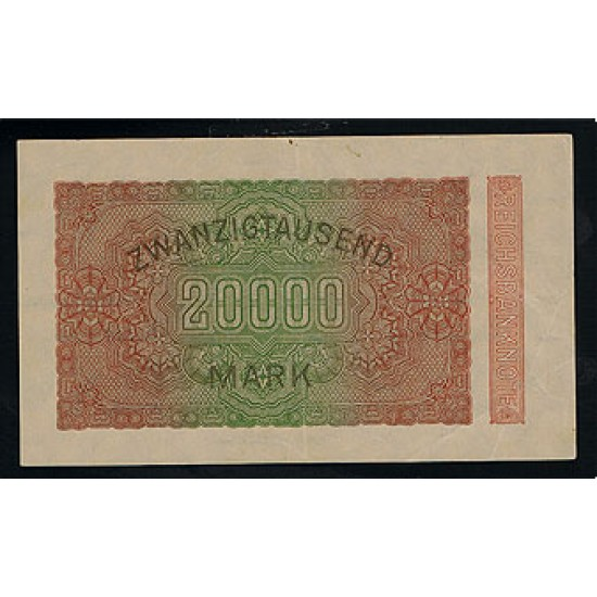 1923 -  Germany Pic 85         20.000 Marks VF banknote