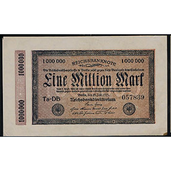1923 -  Germany Pic 93     1.000.000 Marks VF banknote