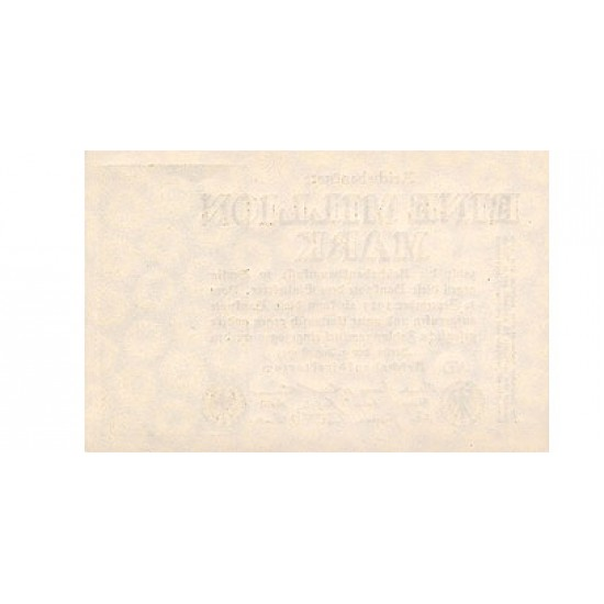 1923 -  Alemania PIC 102a  1 millon Marks banknote