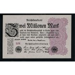 1923 - Germany PIC 104d       2 Millons Marks  banknote