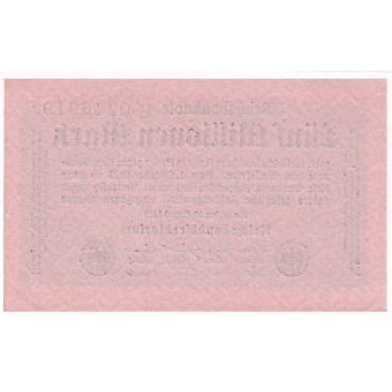 1923 -  Alemania PIC 105   5 millons Marks banknote