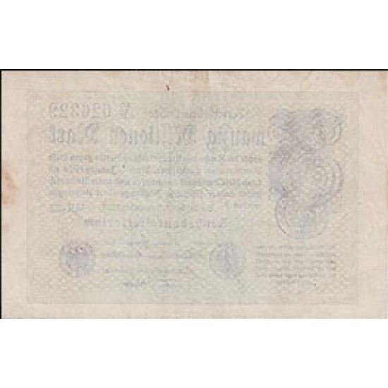 1923 -  Germany PIC 108c        20 Millons Marks banknote
