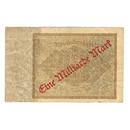 1923 -  Germany Pic 113    1.000 Marks F banknote