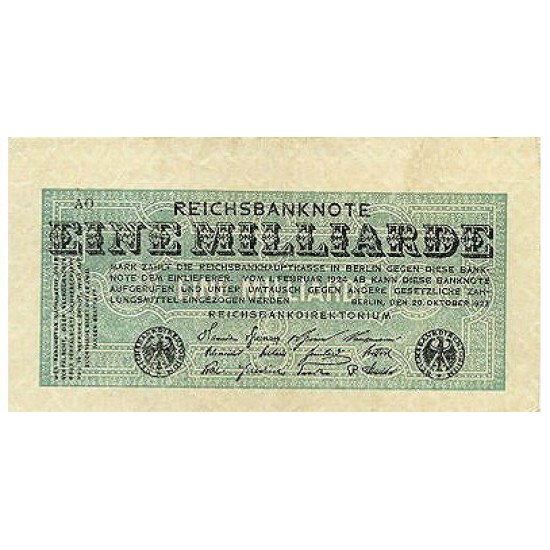 1923 -  Germany PIC 122  1 Millon Marks banknote